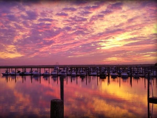 Spectacular fall sunset in Ocean City