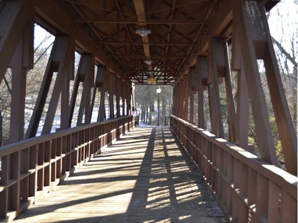 Scenic winter walk inside the bridge between the for Michaels crafts bridgewater nj