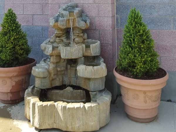 Water fountain in the Secaucus Meditation Garden