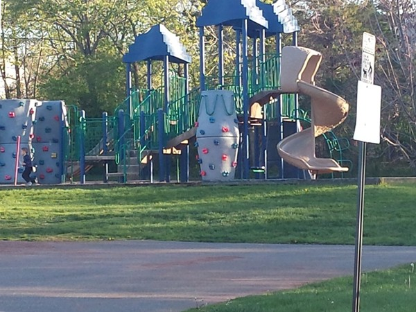 This park has a playground, basketball courts and a baseball field