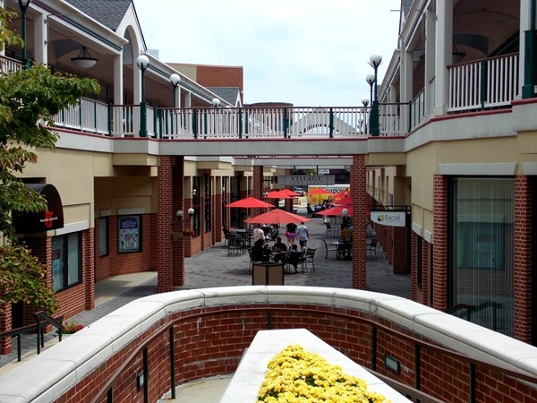 The food court at Forrestal Village in Plainsboro. Stop to visit the shops and restaurants