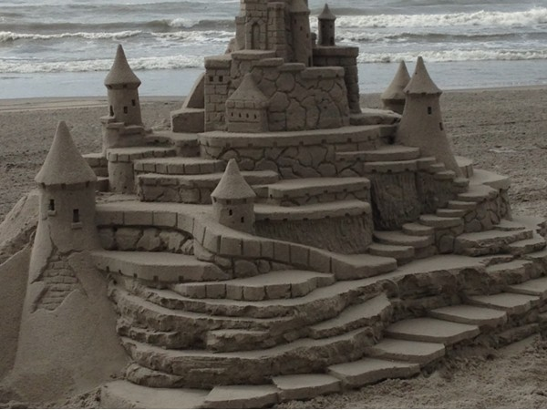 What a beautiful sandcastle!