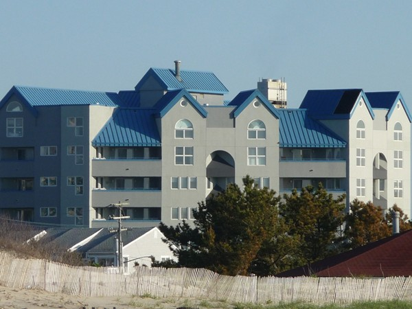 Presidential Tower in North Long Branch is directly across from Seven Presidents Oceanfront Park.