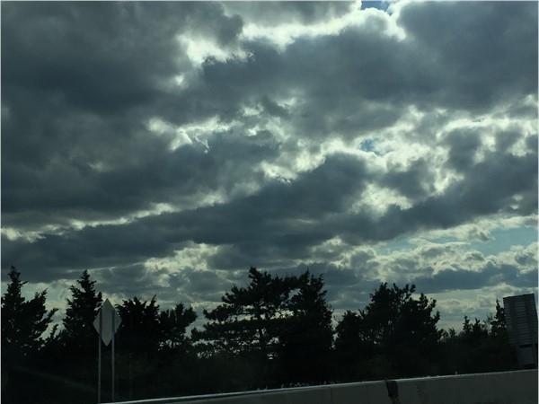 Cool sky on the bridge