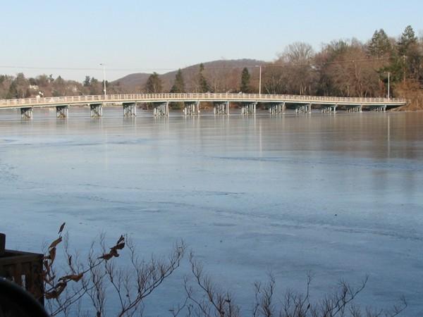 Bridge to Manitu Island at Lake Mohawk