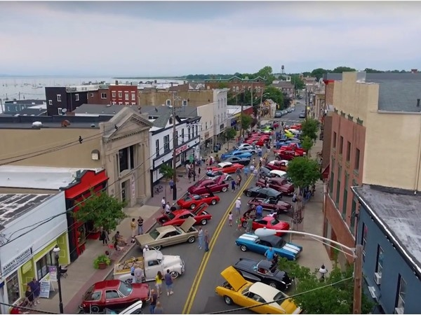 Annual Antique Car Show in Scenic  Keyport