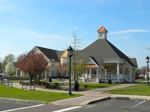 Grand Gazebo in the Dewy Meadow Village Shopping Center next to Spring Ridge