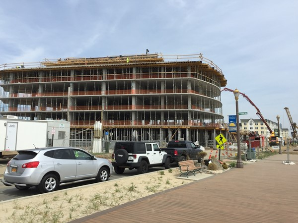 Pier Village Phase III new construction in progress