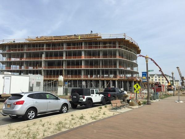 Pier Village Phase III new construction in progress
