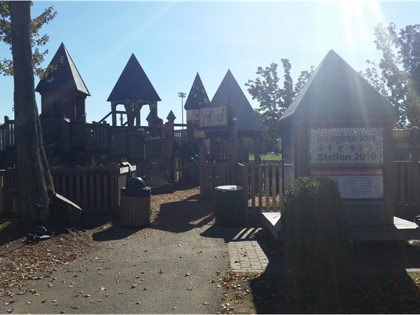 The Imagination Station playground at Horseshoe Lake Park