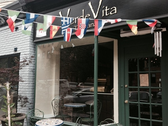 Dine al fresco at Verde Vita Cafe on Washington Street, Uptown Hoboken