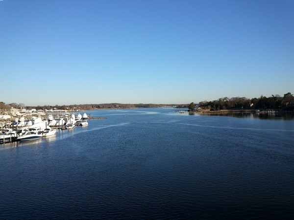 A calm spring day on the Manasquan River