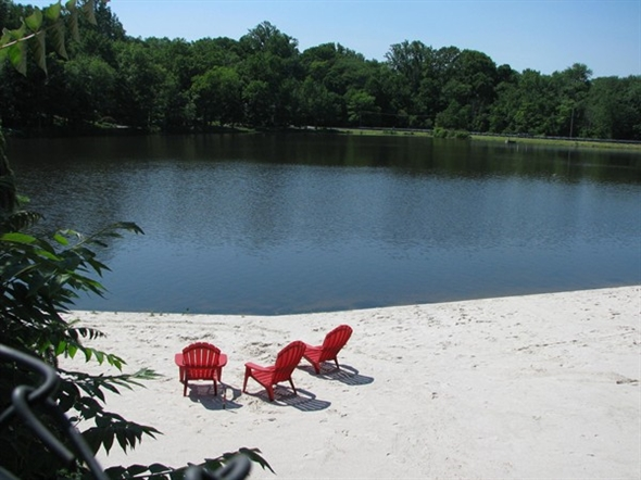 Ramsey Golf and Country Club's private lake - great for kayaking, fishing or relaxing on beach