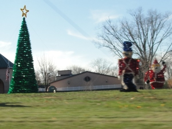 The annual holiday decorations are displayed at The Orchards Shopping Plaza on RTE 34 and CR 537