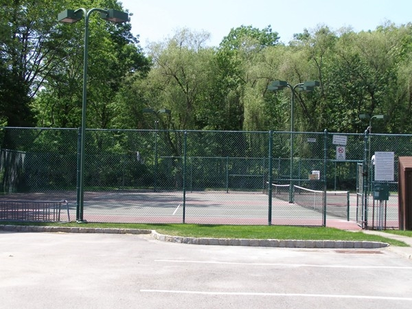 One of several tennis and basketball courts in Panther Valley