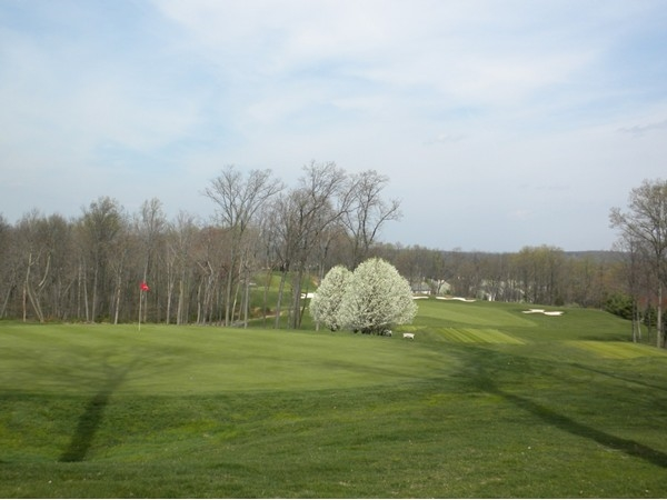 Walking paths and many homes have stunning views of NJ National Golf Course in center of The Hills