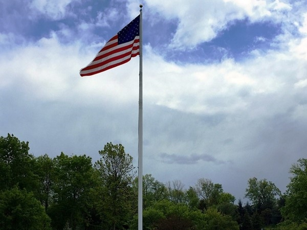 American flag at the NJ National Golf Club, set in The Hills community, in Bernard's Township