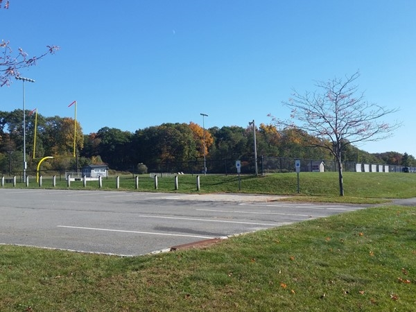 Turkey Brook Park (close to Flanders) has fields for baseball, soccer, football, and more