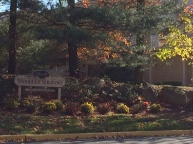 Entrance to Mountain Shadows, Beautiful Condo Community in Franklin Lakes