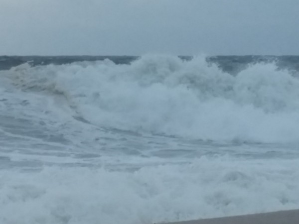 The sea was angry today, my friend
