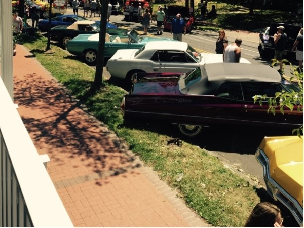 """The """"wine and shine"""" car show was a great feature of the Medford Art, Wine, and Music Festival"""