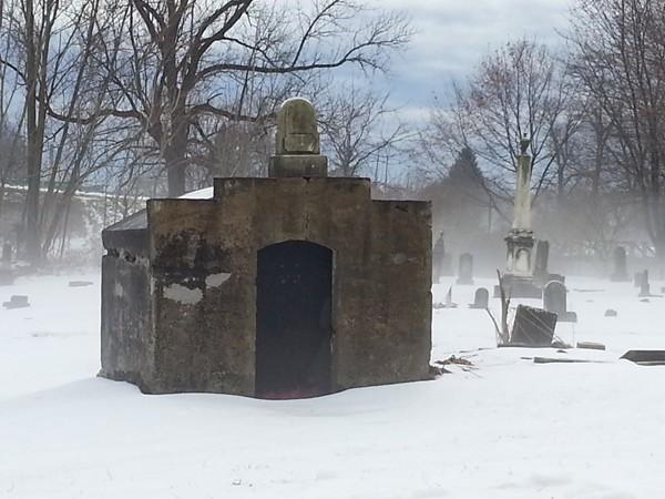 Mausoleum in the fog