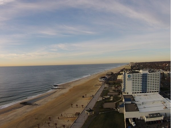 Another beautiful morning along the Long Branch beachfront.  That's Pier Village in the distance