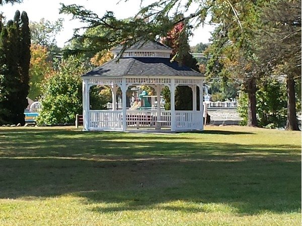 Gazebo on the island at Horseshoe Lake