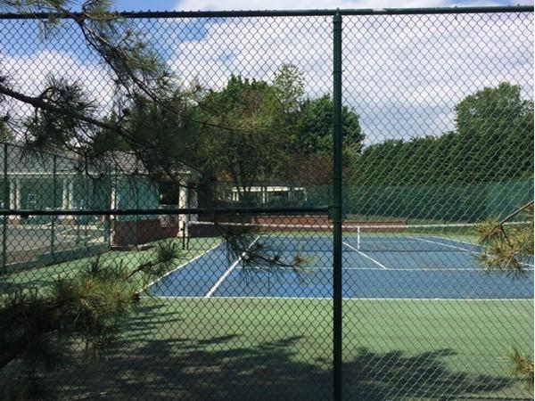 The tennis court at Alderbrook