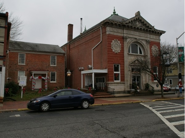 Bordentown's Historical Society building, right next to the historical Bordentown Bank building.