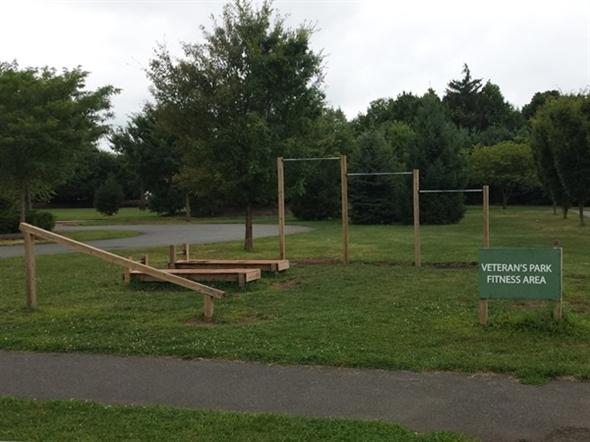 Veteran's Park fitness area in Kendall Park