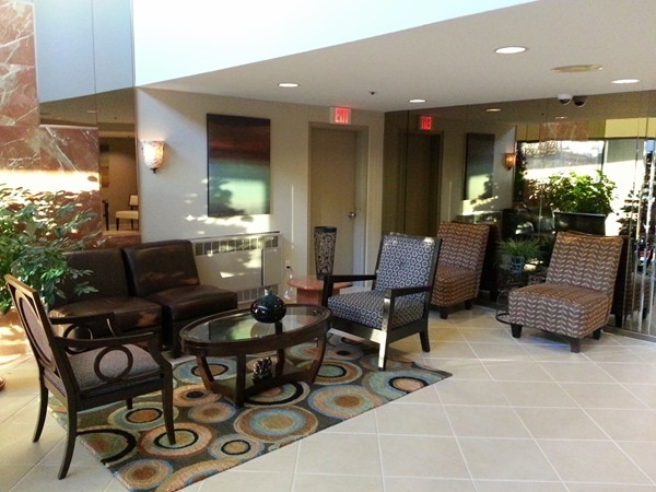 Ocean Plaza in the West End section of Long Branch has a modern, well lit and stylish lobby.