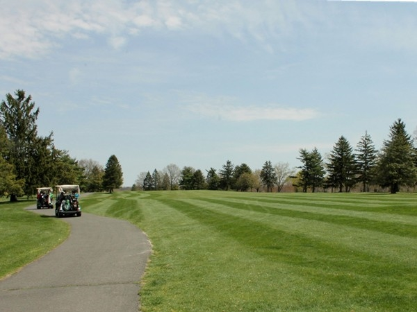 Enjoy a round at Ewing's 18-hole championship golf course