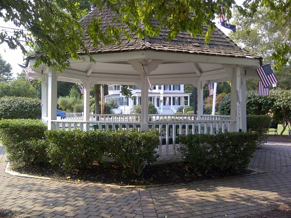 A gazebo at Barnegat Bay