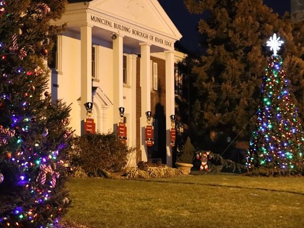 River Edge Municipal Building at Holiday Tree Lighting 2017