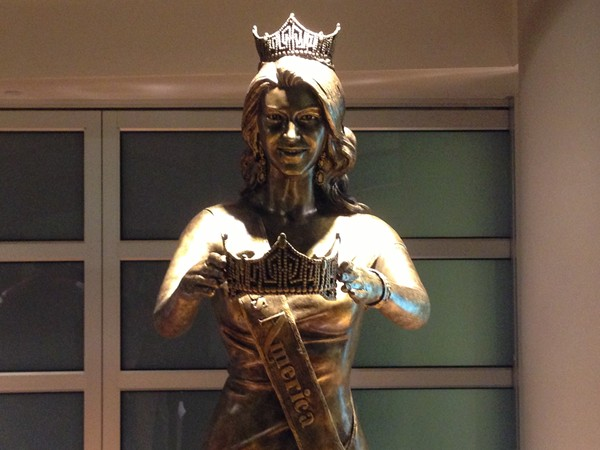 Miss America statue inside Boardwalk Hall