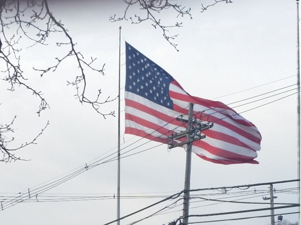 There's a huge American flag in Warren on Mountain Boulevard