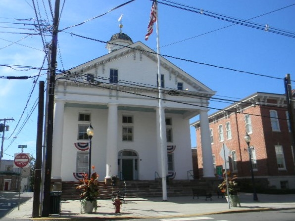 The Lindbergh trial courthouse on Main Street in Flemington