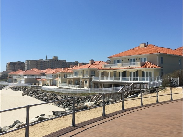 The southern end of the boardwalk at Brighton Ave and The Renaissance condo complex