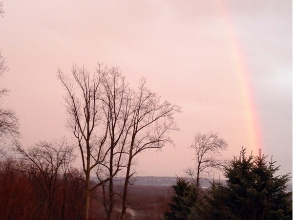 Beautiful rainbow spotted in Montville sky