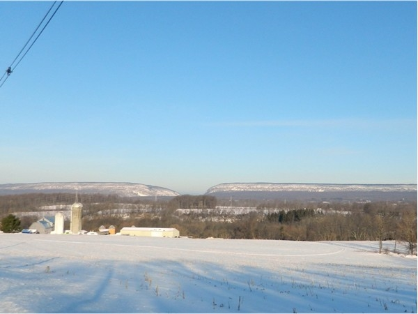 Check out the view of The Delaware Water Gap from these farmland fields...
