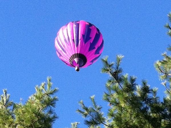 At anytime during weather permitting months you can see balloons in the air.