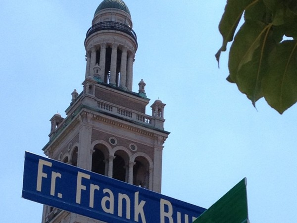 Corner of Munn St & Cottage Place, renamed in honor of parish priest Father Burla, 45+years at IC