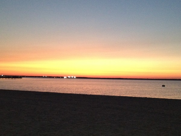 Beautiful end of the day at Lavallette's shoreline