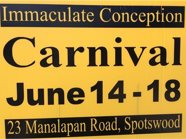 Come on out to the Carnival at Immaculate Conception! Begins tonight....