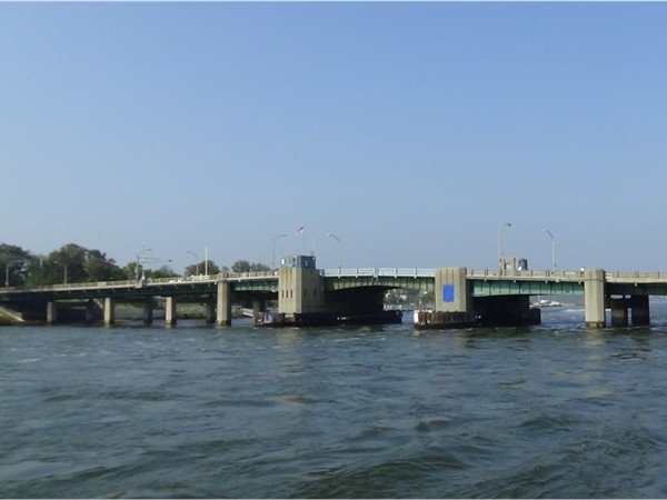 Bridge from Sea Bright to Rumson crossing the Shrewsbury River