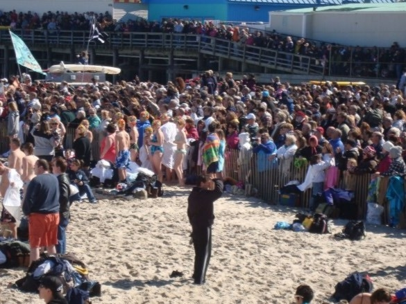 Polar Bear Plunge in February for Special Olympics is a must experience!