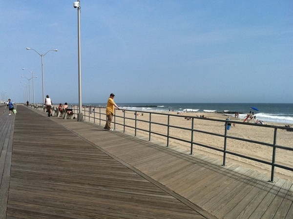 Summer day on the boardwalk