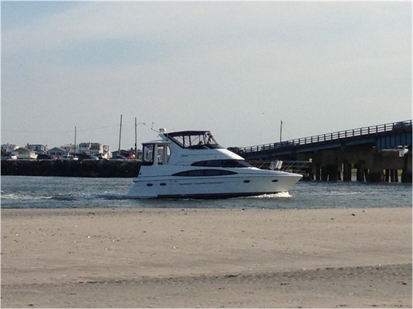 Boat headed through Townsend's Inlet
