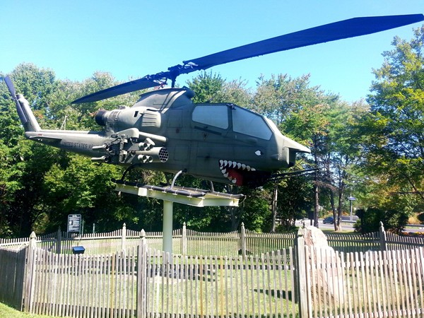 One of the military displays in honor of our veteran's at Veteran's Park in Hamilton